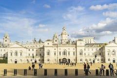 Φρουρές αλόγων τη συμπαθητική ηλιόλουστη ημέρα φθινοπώρου στο Λονδίνο Μεγάλη Βρετανία στοκ εικόνες με δικαίωμα ελεύθερης χρήσης