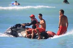 Φρουρές ζωής Waikiki Στοκ Φωτογραφίες