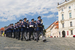 φρουρές Μάρτιος στρατιωτικός Στοκ Εικόνες
