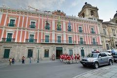 Φρουρές μπροστά από το προεδρικό παλάτι Plaza Murillo Λα paz boleyn Στοκ φωτογραφίες με δικαίωμα ελεύθερης χρήσης