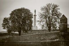 Φρούριο Βελιγραδι'ου στο δραματικό ρετουσάρισμα Στοκ Εικόνα