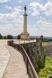 Φρούριο Βελιγραδι'ου και μνημείο του Victor Στοκ φωτογραφίες με δικαίωμα ελεύθερης χρήσης
