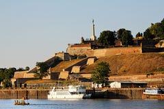 Φρούριο Βελιγραδι'ου και ποταμός sava Στοκ Φωτογραφία