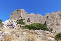 φρούριο Ελλάδα μεσαιωνική Στοκ εικόνα με δικαίωμα ελεύθερης χρήσης