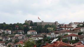 Φρούριο Οχρίδα Μακεδονία του Samuel απόθεμα βίντεο