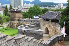 Φρούριο περιοχών †«Hwaseong παγκόσμιων κληρονομιών της ΟΥΝΕΣΚΟ της Κορέας στοκ εικόνες