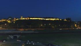 Φρούριο πόλεων στη νύχτα στοκ εικόνες