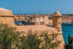 Φρούριο σε Valletta, Μάλτα στοκ φωτογραφίες