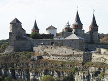 Φρούριο στην παλαιά πόλη kamenetz-Podolsk στην Ουκρανία Στοκ φωτογραφίες με δικαίωμα ελεύθερης χρήσης