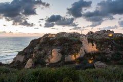 Φρούριο στο εθνικό πάρκο Apollonia Στοκ εικόνες με δικαίωμα ελεύθερης χρήσης