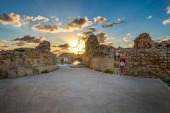 Φρούριο στο εθνικό πάρκο Apollonia Στοκ Εικόνες