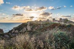 Φρούριο στο εθνικό πάρκο Apollonia Στοκ φωτογραφία με δικαίωμα ελεύθερης χρήσης