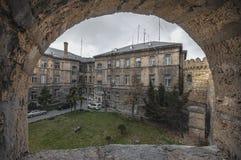 Φρούριο του παλαιού Sity Μπακού, του πλαισίου πετρών ή της αμυντικής τρύπας , Παλαιός τοίχος πόλεων του Μπακού Αζερμπαϊτζάν Στοκ Εικόνα