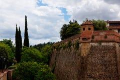 Φρούριο Φλωρεντία, Ιταλία πανοραμικών πυργίσκων στοκ εικόνα με δικαίωμα ελεύθερης χρήσης