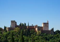 Φρούριο Alhambra, Ισπανία Στοκ φωτογραφίες με δικαίωμα ελεύθερης χρήσης
