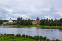 Φρούριο Antient και εκκλησίες Velikiy Novgorod Στοκ φωτογραφία με δικαίωμα ελεύθερης χρήσης