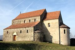Φρούριο Cisnadioara Στοκ φωτογραφία με δικαίωμα ελεύθερης χρήσης