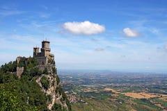 Φρούριο Guaita Άγιος Μαρίνος della Rocca Στοκ Εικόνες