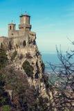 Φρούριο Guaita della Rocca στον Άγιο Μαρίνο Στοκ Εικόνα