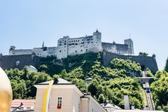Φρούριο Hohensalzburg στοκ φωτογραφίες με δικαίωμα ελεύθερης χρήσης