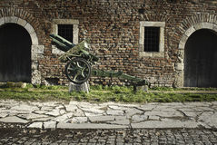 Φρούριο Kalemegdan σε Βελιγράδι και το μουσείο των όπλων Στοκ Εικόνα