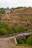 Φρούριο Khotyn, Ουκρανία Στοκ Φωτογραφίες