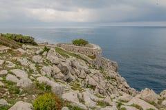 Φρούριο Orrico στο νησί Capri, Ιταλία στοκ εικόνα με δικαίωμα ελεύθερης χρήσης