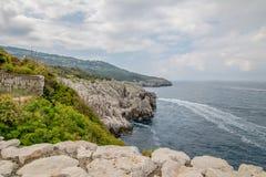 Φρούριο Orrico στο νησί Capri, Ιταλία στοκ φωτογραφίες με δικαίωμα ελεύθερης χρήσης