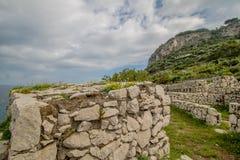 Φρούριο Orrico στο νησί Capri, Ιταλία στοκ εικόνες