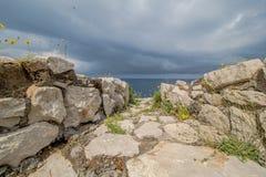 Φρούριο Orrico στο νησί Capri, Ιταλία στοκ φωτογραφία με δικαίωμα ελεύθερης χρήσης