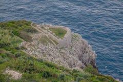 Φρούριο Orrico στο νησί Capri, Ιταλία στοκ φωτογραφίες