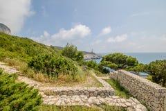 Φρούριο Pino στο νησί Capri, Ιταλία στοκ εικόνες με δικαίωμα ελεύθερης χρήσης