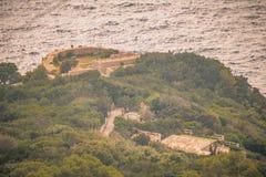 Φρούριο Pino στο νησί Capri, Ιταλία στοκ εικόνες