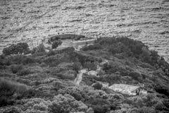 Φρούριο Pino στο νησί Capri, Ιταλία στοκ φωτογραφία με δικαίωμα ελεύθερης χρήσης