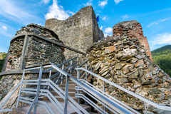 Φρούριο Poenari, Ρουμανία Στοκ Φωτογραφία