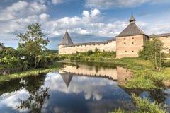 Φρούριο Staroladozhskaya, Staraya Ladoga, περιοχή του Λένινγκραντ, της Ρωσίας στοκ φωτογραφία