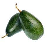 Φρούτα αβοκάντο που απομονώνονται στο άσπρο υπόβαθρο Στοκ Εικόνες