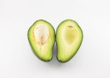 Φρούτα αβοκάντο στο άσπρο υπόβαθρο Στοκ Εικόνες