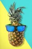 Φρούτα ανανά διασκέδασης με τα θερινά γυαλιά ηλίου στοκ φωτογραφίες με δικαίωμα ελεύθερης χρήσης