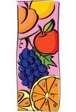 Φρούτα για το πρόγευμα διανυσματική απεικόνιση