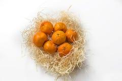 Φρούτα γλυκών πορτοκαλιών στο λευκό Στοκ εικόνες με δικαίωμα ελεύθερης χρήσης