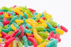 Φρούτα ζελατίνας με τη ζάχαρη Στοκ Εικόνες