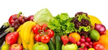 Φρούτα και λαχανικά συλλογής Στοκ εικόνες με δικαίωμα ελεύθερης χρήσης