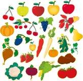 Φρούτα και λαχανικά ελεύθερη απεικόνιση δικαιώματος
