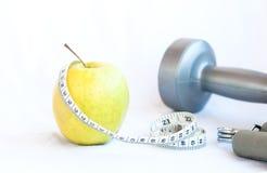 Φρούτα και γυμναστική της Apple Στοκ Εικόνες