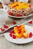 Φρούτα και κέικ Στοκ Φωτογραφία