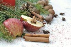 Φρούτα και καρυκεύματα για το επιδόρπιο Στοκ Φωτογραφία