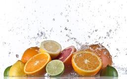 Φρούτα και καταβρέχοντας νερό Στοκ εικόνα με δικαίωμα ελεύθερης χρήσης