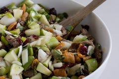 Φρούτα και κρέας που γεμίζουν στη μίξη του κύπελλου Στοκ εικόνα με δικαίωμα ελεύθερης χρήσης