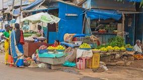 Φρούτα και λαχανικά για την πώληση σε μια ινδική άκρη του δρόμου στοκ εικόνες με δικαίωμα ελεύθερης χρήσης